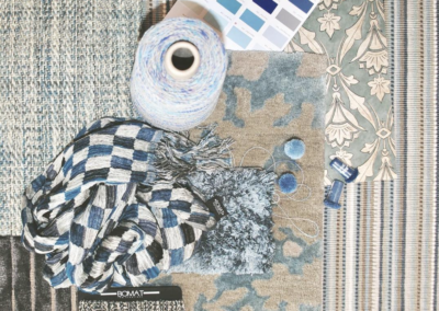 BOMAT Rug Creations - Moodboard Blue