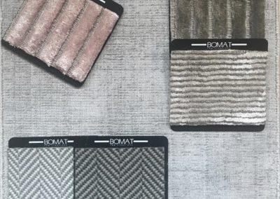 BOMAT Rug creations - Moodpboard Silver / Pink / Beige