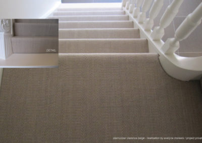 Bomat Rug Creations - Clarence Beige in staircase wall to wall