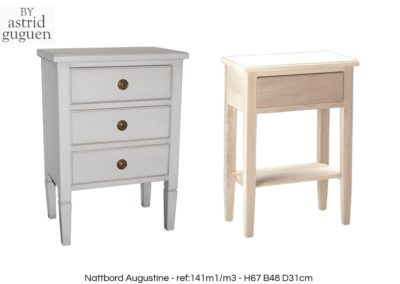 BY astrid guguen - Side table 3 drawers-Nattbord Augustine