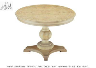 BY astrid guguen - Round dinning / console table - rundt spisebord konsollbord