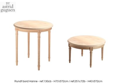 BY astrid guguen - Round side table Rundt Bord Hanne